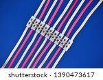 electrical wires are connected... | Shutterstock . vector #1390473617