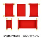 realistic detailed 3d red old... | Shutterstock .eps vector #1390494647