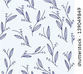 seamless pattern with leaf ... | Shutterstock .eps vector #139049849