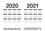 simple calendar layout for 2020 ... | Shutterstock .eps vector #1390500371
