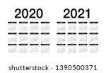 simple calendar layout for 2020 ... | Shutterstock .eps vector #1390500371