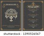 coffee shop menu template....   Shutterstock .eps vector #1390526567