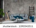 interior living room wall...   Shutterstock . vector #1390543511