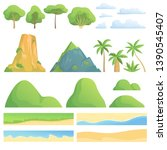 landscape constructor. creation ... | Shutterstock .eps vector #1390545407