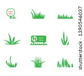 green grass icons set  ... | Shutterstock .eps vector #1390546037