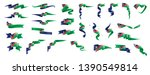 namibia flag  vector... | Shutterstock .eps vector #1390549814