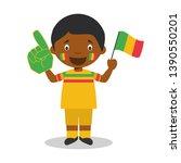 national sport team fan from...   Shutterstock .eps vector #1390550201