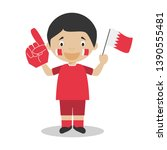 national sport team fan from...   Shutterstock .eps vector #1390555481