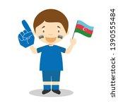 national sport team fan from...   Shutterstock .eps vector #1390555484