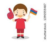 national sport team fan from...   Shutterstock .eps vector #1390555487