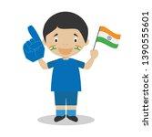 national sport team fan from...   Shutterstock .eps vector #1390555601