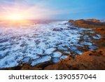 the stony coast of the atlantic ... | Shutterstock . vector #1390557044