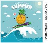 vintage summer poster design... | Shutterstock .eps vector #1390559147