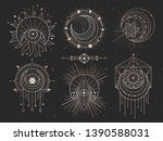 vector set of sacred geometric... | Shutterstock .eps vector #1390588031