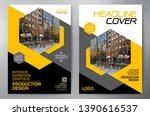 business brochure. flyer design.... | Shutterstock .eps vector #1390616537