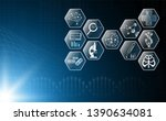 abstract background technology... | Shutterstock .eps vector #1390634081