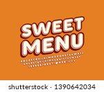 vector trendy banner sweet menu ... | Shutterstock .eps vector #1390642034