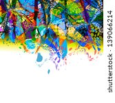 Colorful Abstract Of Paint...