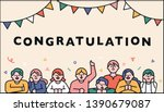 cute celebration decoration... | Shutterstock .eps vector #1390679087