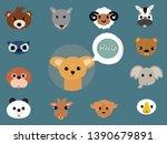doodle of animal head funny... | Shutterstock .eps vector #1390679891