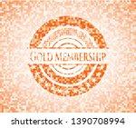 gold membership abstract orange ... | Shutterstock .eps vector #1390708994