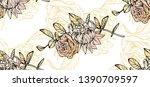 floral seamless pattern. wild... | Shutterstock .eps vector #1390709597