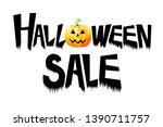 halloween sale   typography ... | Shutterstock . vector #1390711757