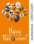 happy halloween banner  poster... | Shutterstock . vector #1390712654