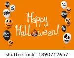 happy halloween banner  poster... | Shutterstock . vector #1390712657