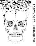 skull made with flying bats  ... | Shutterstock . vector #1390712921