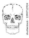 skull made with flying bats  ... | Shutterstock . vector #1390712924