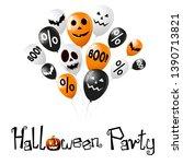 halloween party poster  banner... | Shutterstock . vector #1390713821
