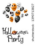 halloween party poster  banner... | Shutterstock . vector #1390713827