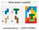 puzzle game with colorful...   Shutterstock .eps vector #1390725881