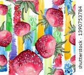 strawberry healthy food....   Shutterstock . vector #1390753784