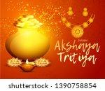 illustration of akshaya tritiya ... | Shutterstock .eps vector #1390758854