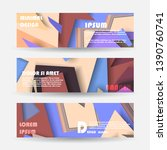vector abstract geometric... | Shutterstock .eps vector #1390760741