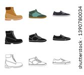 vector illustration of shoe and ... | Shutterstock .eps vector #1390780034