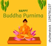 illustration of buddha purnima... | Shutterstock .eps vector #1390781237