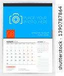 wall calendar planner template... | Shutterstock .eps vector #1390787864