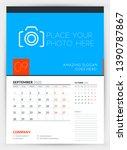 wall calendar planner template... | Shutterstock .eps vector #1390787867