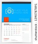 wall calendar planner template... | Shutterstock .eps vector #1390787891
