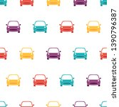 seamless pattern with car on... | Shutterstock .eps vector #1390796387