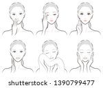illustration of a woman doing... | Shutterstock .eps vector #1390799477
