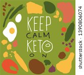 poster with words keep calm... | Shutterstock .eps vector #1390806074