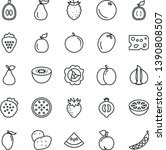 thin line vector icon set  ... | Shutterstock .eps vector #1390808507