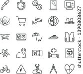 thin line vector icon set  ... | Shutterstock .eps vector #1390808627