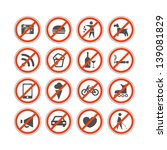 urban prohibition signs... | Shutterstock .eps vector #139081829