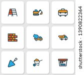 building icons colored line set ... | Shutterstock .eps vector #1390822364