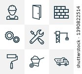 architecture icons line style... | Shutterstock .eps vector #1390822514